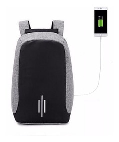 Mochila Anti Furto Roubo Laptop Usb Pronta Entrega 6219