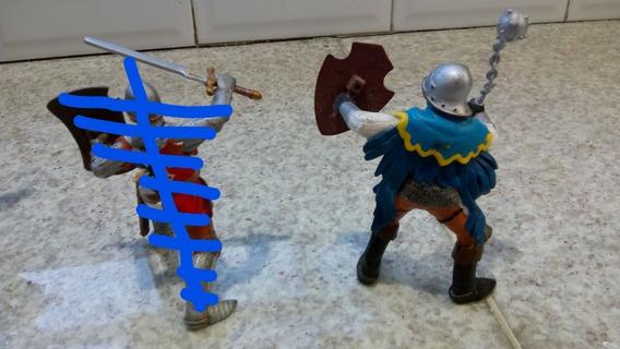Soldado Medieval De Suecia, Papo (original)