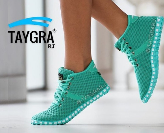 Taygra Original Botinha Comfort Verde Água