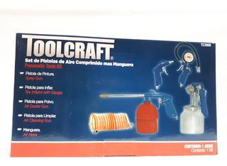 Kit Para Compresor 5 Piezas Toolcraft Calidad Semiindustrial