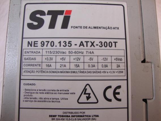 Fonte Sti Atx 24 Pinos 230w (não Possui Conectores Sata)