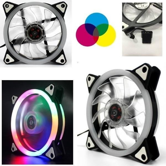 Cooler Gamer Rgb Pc Cpu 120mm 12volt Fan Con Led