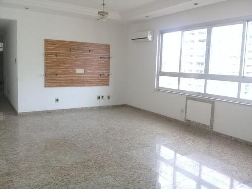 Apartamento Com 2 Dormitórios Para Alugar, 130 M² Por R$ 3.600,00/mês - Gonzaga - Santos/sp - Ap4744