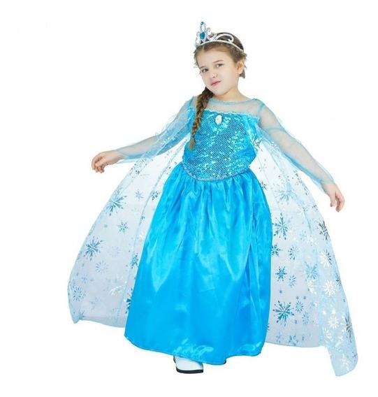 Disfraz Elsa Queen Frozen Ee130 Talla 10-12 Halloween