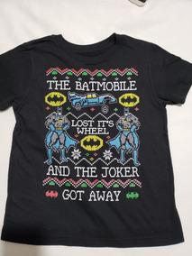 Playera Batman Navidad Dc Comics Niño Original