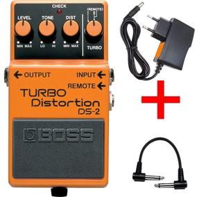 Pedal Boss Ds-2 Turbo Distorção+fonte E Cabo
