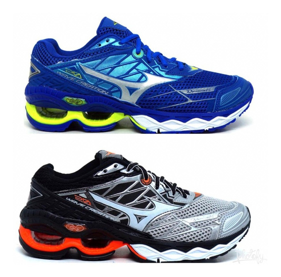 Kit 2 Pares Tenis Mizuno Wave Creation Frete Gratis