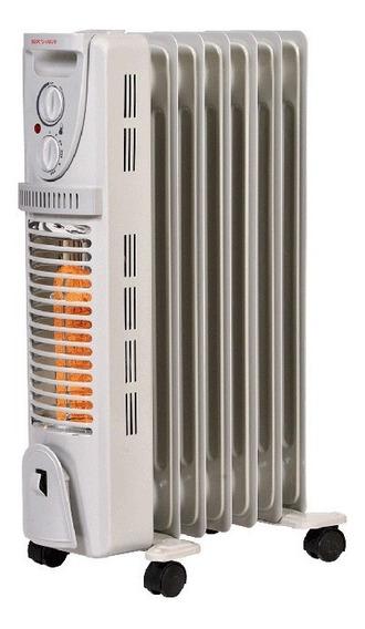 Calentador Calefactor Elect Aceite Halogeno 2 En 1 Heat Wave