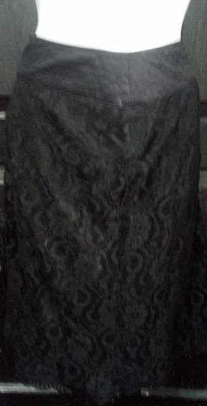 Falda Negra Encaje Talla 2xl
