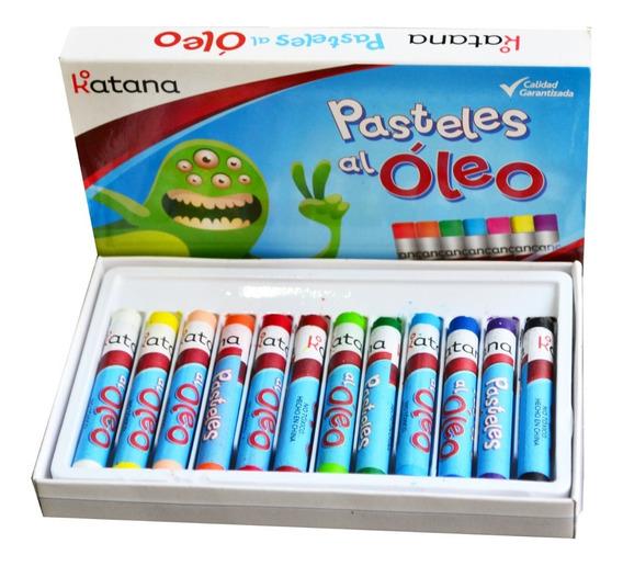 Oleos Pastel Katana X 24 Colores Surtidos Estuche Crayones