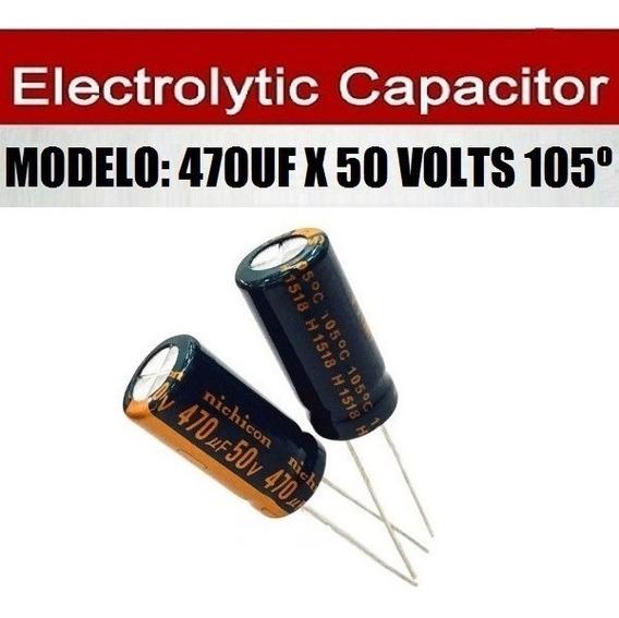 Capacitor Eletrolítico 470uf 50 Volts 105º - 100 Unidades