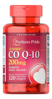 Coenzima Q10 200 Mg 120 Softgels Puritans Pride Cod. 244