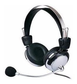 Fone De Ouvido Com Microfone E Ajuste De Volume - Pc E Lan