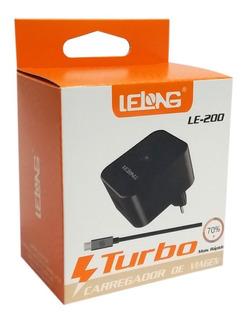 Kit 5 Carregadores Turbo De Viagem 3.0 Para Celular Le-200