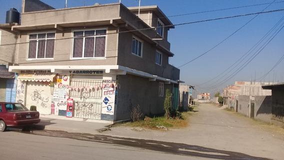 Casa De 2 Pisos Chimalhuacán En Av Comercial Con Accesoria