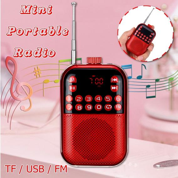 Rádio Portátil Fm 2.1 Bandas Digital Key Seleção Mini Bolso