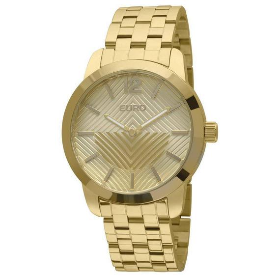 Relógio Euro Fan Dourado - Eu2034aj/4d