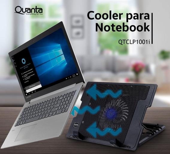 Cooler Para Notebook Quanta Qtclp1001i Usb Preto - Original