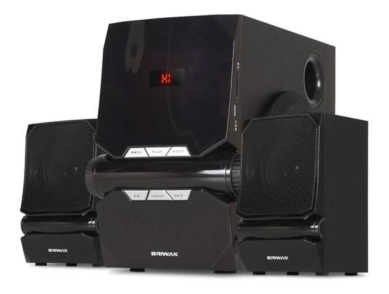 Caixa Home Theater Mini System 2.1 50w Bluetooth Usb Fm Sd