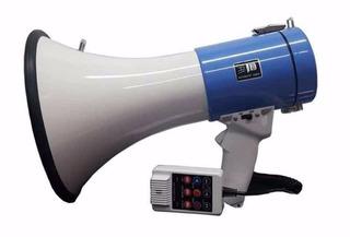 Megáfono Profesional Con Micrófono Js-50b 50w De Potencia