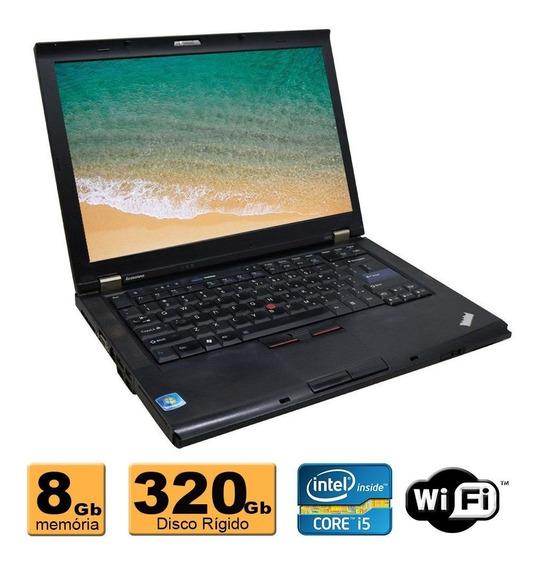 Notebook Lenovo Intel Core I5 8gb Hd 320gb Wifi Garantia