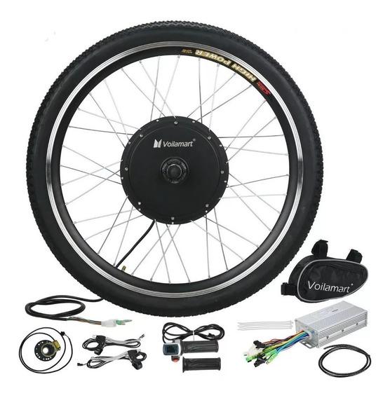 Kit Conversión De Bicicleta Eléctrica Rueda Delantera 26 48v