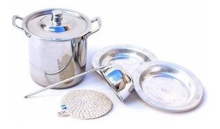 Set Olla Cacerola Cocina Sopa De Aluminio Puro 4 Piezas