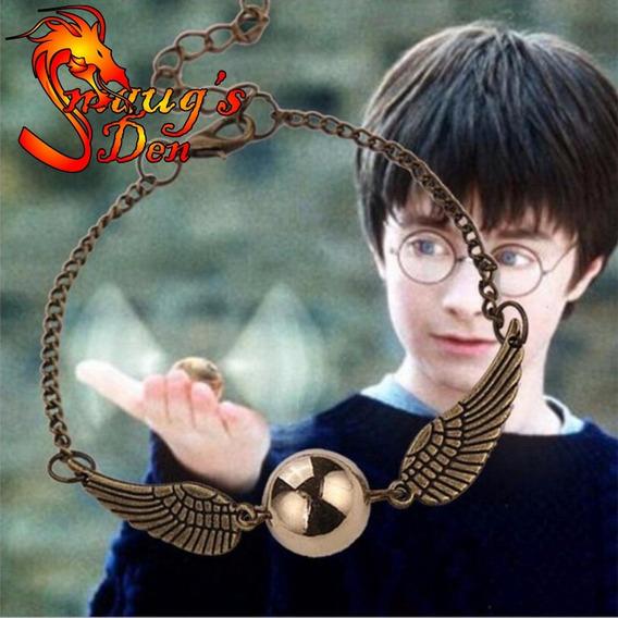 Pulseira Pomo De Ouro, Harry Potter Quadribol Hogwarts