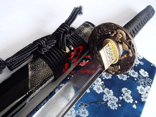 Imagem 1 de 9 de Katana  Kurotora  - Aço Damasco Negro