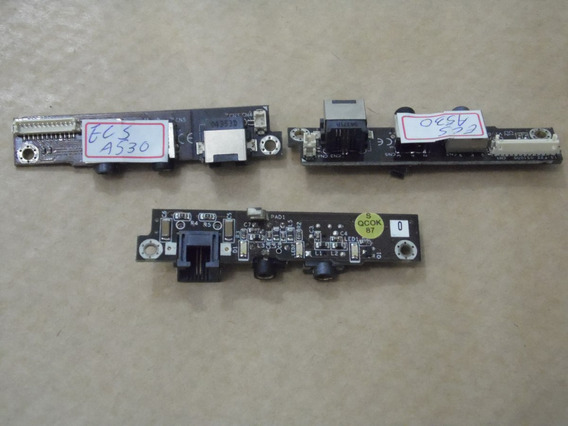 Placa Audio/rede Note Ecs A453