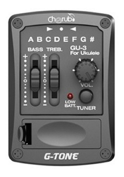 Micrófono Ecualizador Ukelele Con Afinador Cherub Gu3 Yulmar