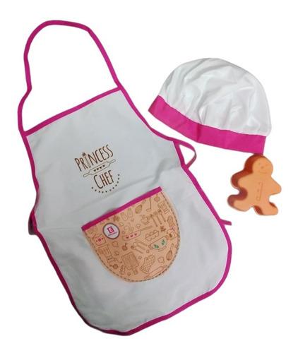 Imagen 1 de 6 de Valija De Cocinera Princesa Chef Con Accesorios Educando
