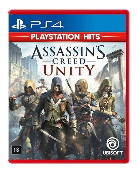 Jogo Assassins Creed Unity Hits Mídia Física - Ps4