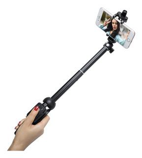Bastão Selfie Retrátil Para Celular 3 Em 1 Tripé + Controle