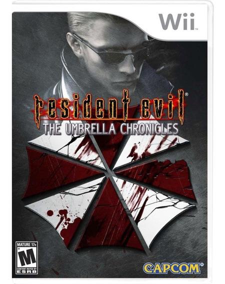Resident Evil The Umbrella Chronicles Wii Mídia Física Novo
