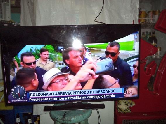 Tv Tela Quebrada Samsung,un40h5103ag, ,tem Imagem,tem Som