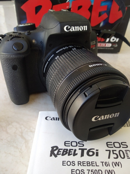 Camera Canon Eos T6i Kit Ef-s 18-55 Is Stm - Conservada