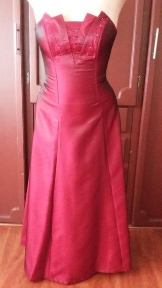 Vestido Rojo Vino Talla S