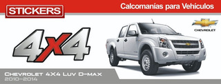 Calcomania 4x4 Luv Dmax D-max L 2010 2014