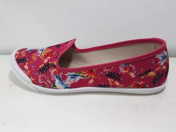 Chatas Moleca Estampadas Flores Confort Dama Fashion New