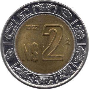 Monedas De $2 Nuevos Pesos Año 1992