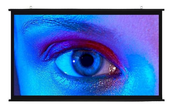 Tela Projeção Telão Tecido Lona Ultrahd 3d Projetor Datashow