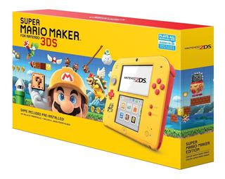 Nueva Consola Nintendo 2ds Edicion Mario Maker Incluye Juego
