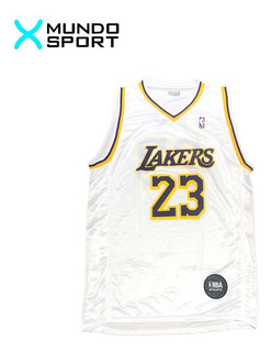 Musculosa De Basquet Nba Lakers Blanca Lebron James Adulto