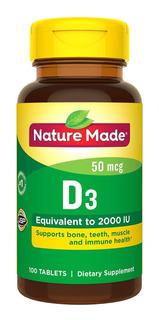 Nature Made Vitamin D3 2000 Iu Tablets 220 Tabletes Original