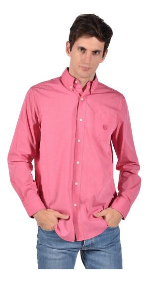 Camisa Classic Fit Chaps Rosa 750714827-2z1e Hombre