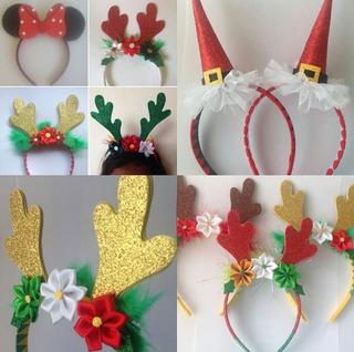 Cintillos De Reno,orejas De Minnie,navidad, Cotillones Niñas