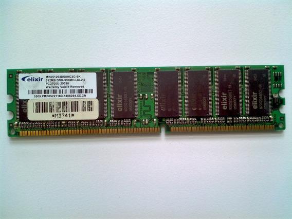 Memoria Ram Pc Elixir Ddr 512 Mb Pc 2700