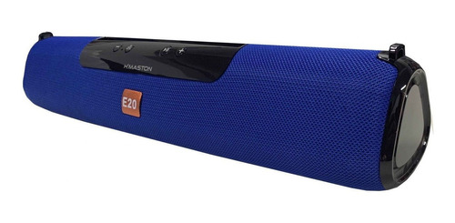 Caixa de som H'maston E-20 portátil com bluetooth azul