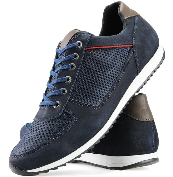 Sapatenis Tenis Casual Jogger Jogging Lifestyle Couro
